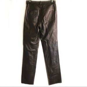 CA leatherwear brown leather pants new 10